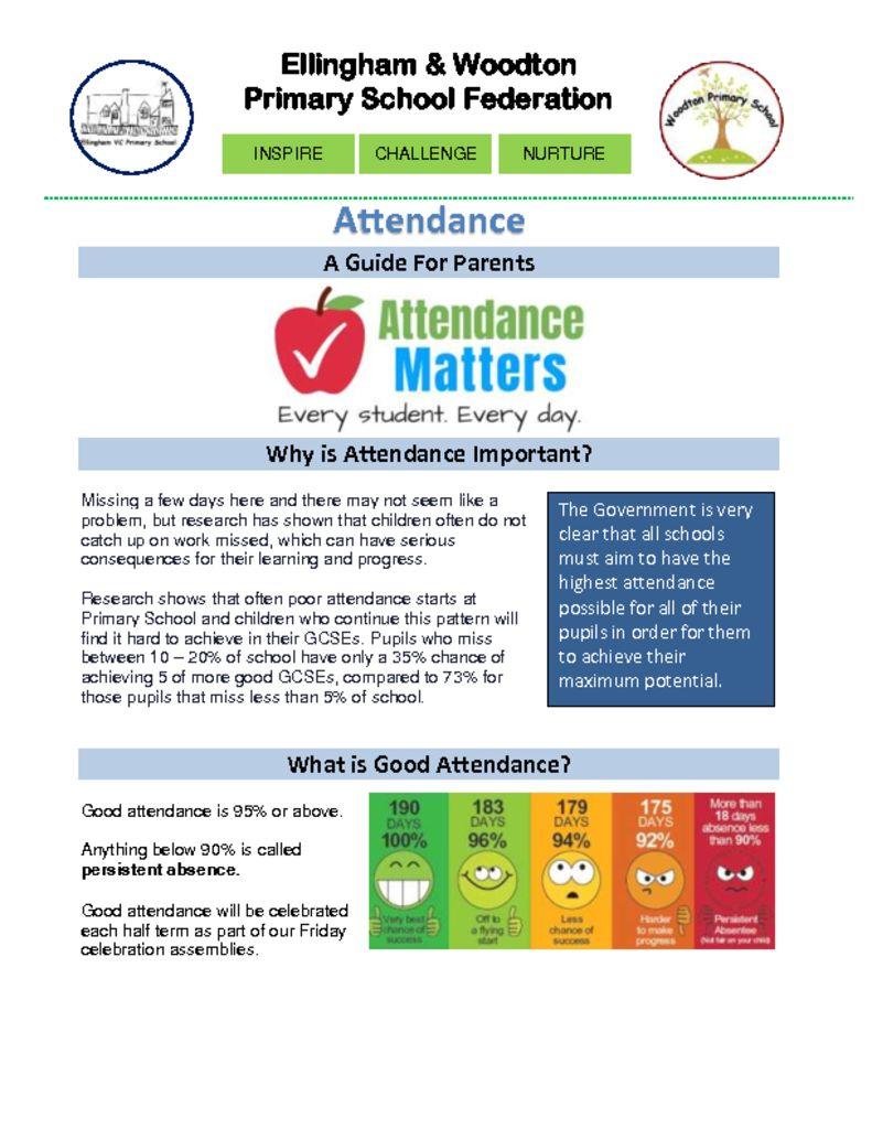 thumbnail of Attendance Guide For Parents 2020