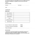 thumbnail of Request for school to administer prescribed medication