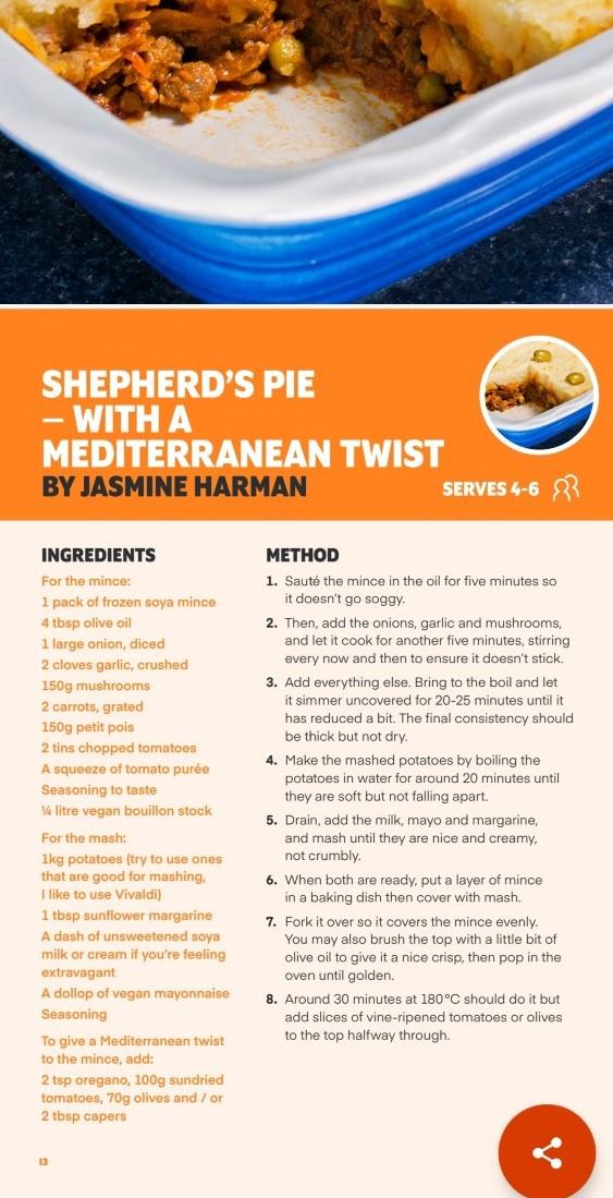 Shepherds Pie with a Mediterranean Twist