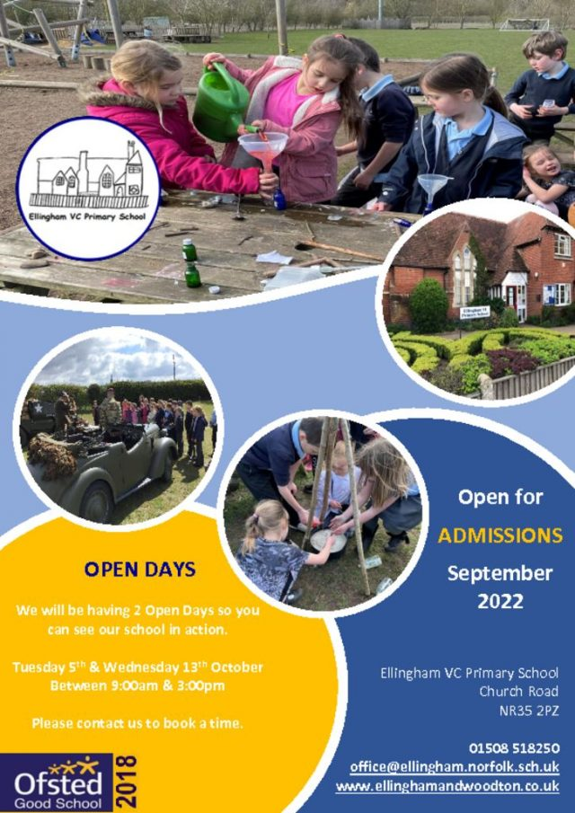 thumbnail of Ellingham Flyer Open Day