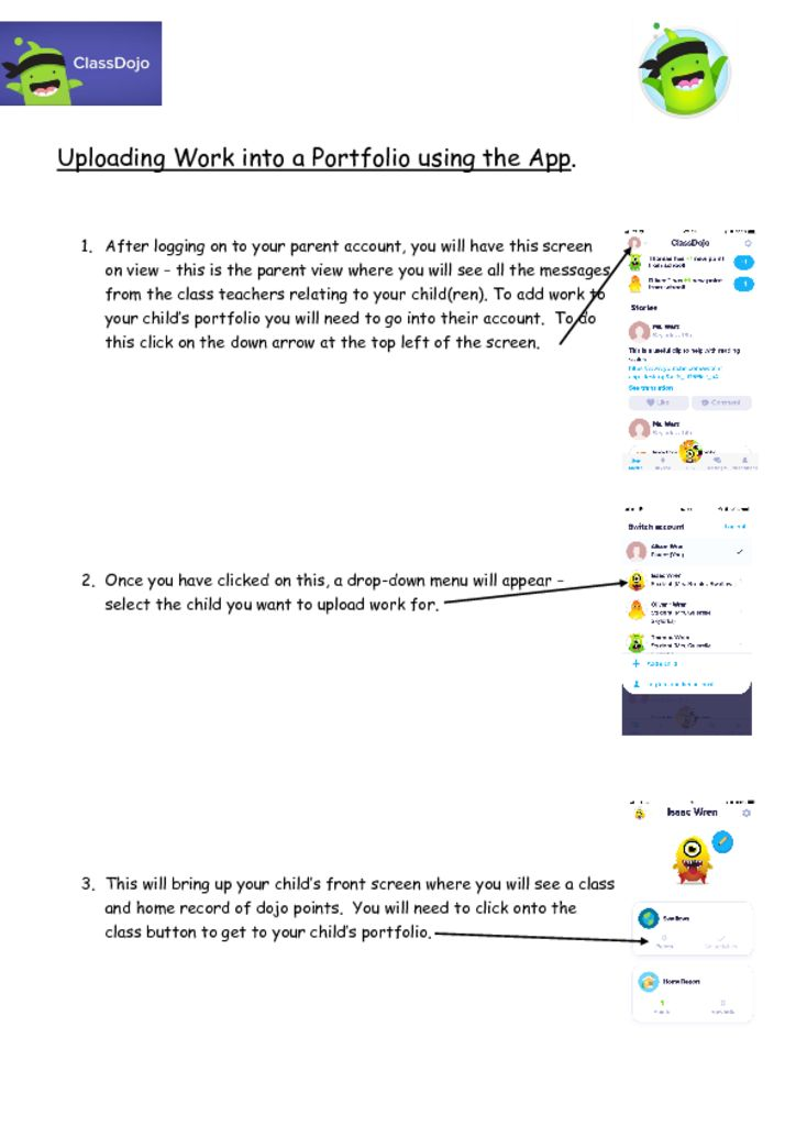thumbnail of Parent Guide – Uploading to portfolio using App