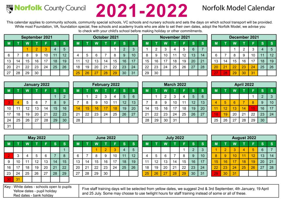 thumbnail of Term date calendar 2021 to 2022