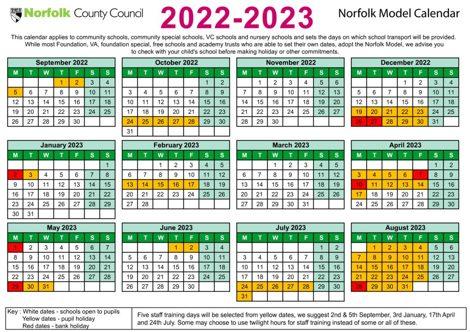 thumbnail of Term date calendar 2022 to 2023